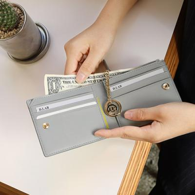 D.LAB Coin Half wallet  - Gray