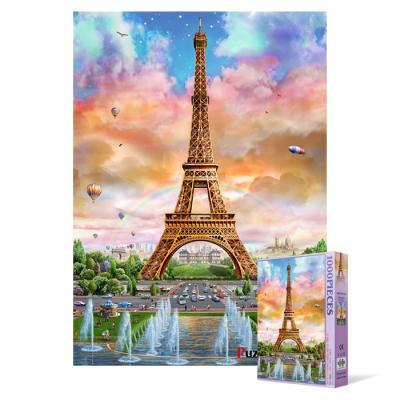 1000피스 직소퍼즐 - 에펠탑 무지개 축제