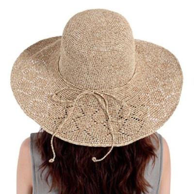 와이어 모자 비치 라피아햇 휴양지 파나마햇 베이지