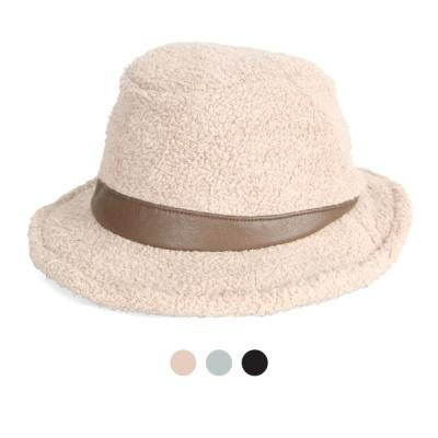 [디꾸보]삼각띠 배색 페도라 울 모자 DCH-AC770