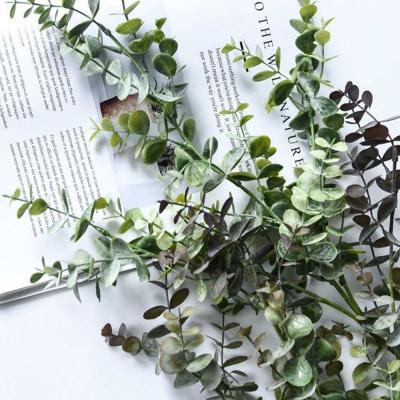 유칼립투스조화 잎사귀 인조유칼립투스 브라운색상