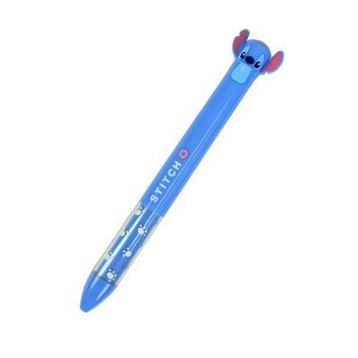 스티치 흑적2색 0.5mm 볼펜