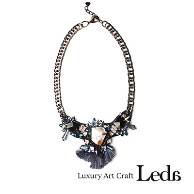 [레다주얼리] 글램 Necklace (블루)