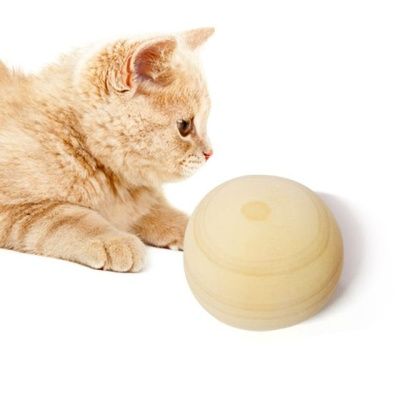 고양이 장난감 가습 스트레스 히노끼 원형볼 2P