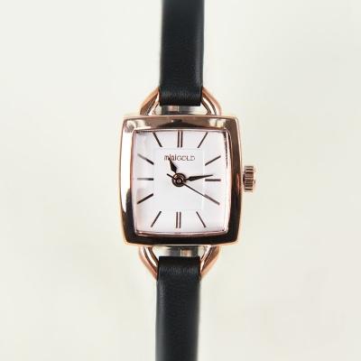 레트로 스퀘어 시계 핑크 WOO002LWBW