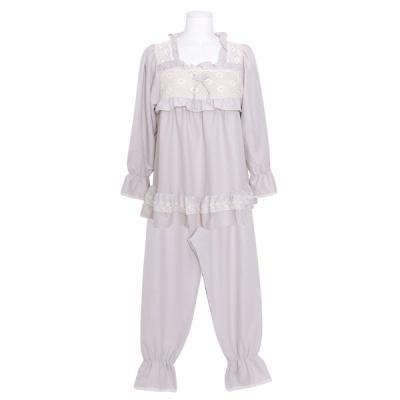 [쿠비카]바스트 이중 레이스 투피스 여성잠옷 W838