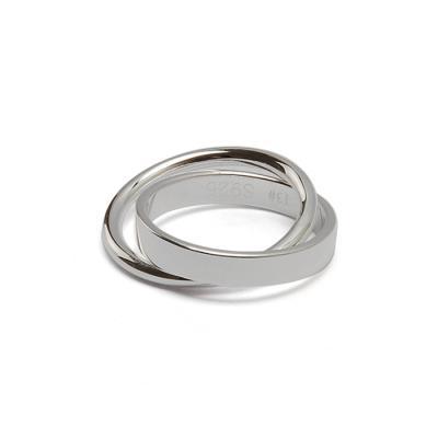 실버 925 페어 써클 반지