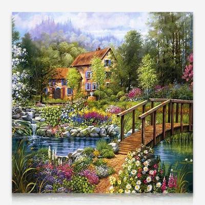 아름다운 정원의 집 DIY 보석십자수 십자수 비즈세트