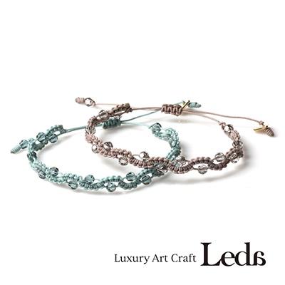 [레다주얼리] 매듭 레이스 팔찌 (4color)