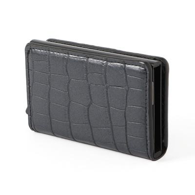 RFID차단 크로커다일 가죽 카드지갑
