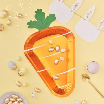 당근 종이접시 Easter bunny carrot paper plate