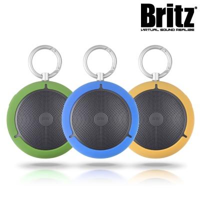브리츠 휴대용 블루투스4.0 스피커 BR-MP1100 (통화+음악 / 마이크 내장 / MicroSD 카드 입력단자 / 카라비너클립)