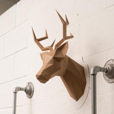 [톰텐] 페이퍼크래프트 사슴머리 장식 Stag head figuration