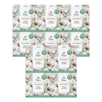 29Days 리얼 코튼 유기농 생리대 대형 10팩 세트