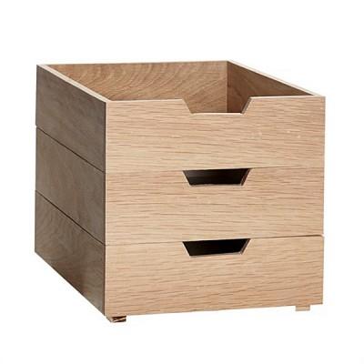 [Hubsch]Storage box, oak, nature/white, s/3 889028 스토리지박스