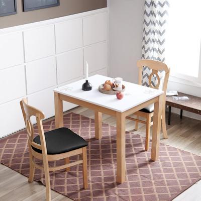 [이노센트플러스] 리브  하이그로시 내츄럴 로셸 2인 식탁세트