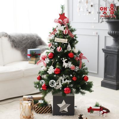 앳홈 딥로즈리본 크리스마스 트리 / 1.3m