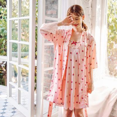 [쿠비카]스트로베리 DTY 앙상블 여성잠옷 W364