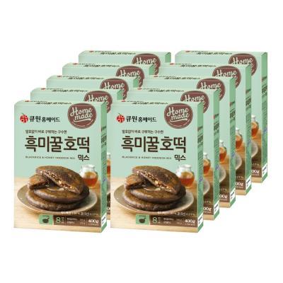 (한박스/10개입) 큐원 흑미꿀호떡믹스 (프라이팬용)