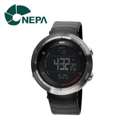 네파 남성용 아웃도어 디지털 시계 N338A-BLACK(NE)