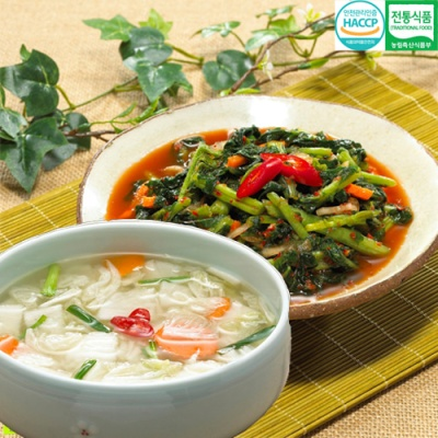 전통식품인증 웰쉐프 열무김치 3kg+나박물김치 3kg
