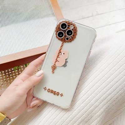 아이폰12 미니 프로 맥스 사이드 하트 투명 폰 케이스
