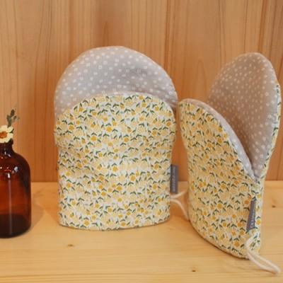 노란꽃 향기 주방장갑(2p)