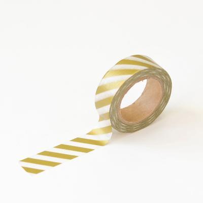 왈가닥스 메탈릭 마스킹테이프 - 35 Gold Oblique