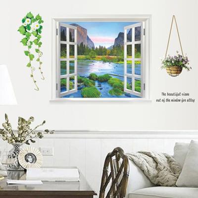창문 호수 3D벽스티커