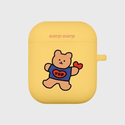 Bear heart-yellow(Air Pods)