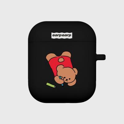 Doodle bear-black(Air pods)
