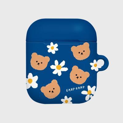 Dot flower bear-blue(Hard air pods)