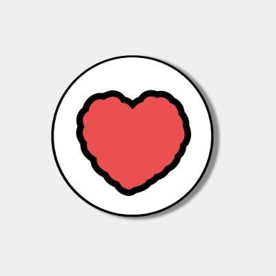[스마트톡] red heart fluffy