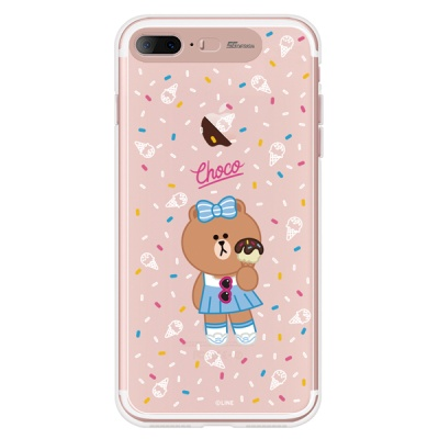 라인프렌즈 iPhone7 +  8+ CHOCO ICE Cream CASE