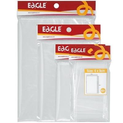 문구사무 투명한 지퍼봉투(미니 60×90 60매 Eagle)