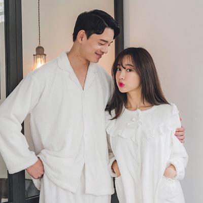 [쿠비카]극세사 샤이닝 은사 투피스 커플잠옷 WM126