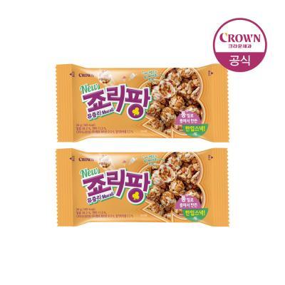 크라운 죠리퐁 죠리팡 뮤즐리 딸기마카롱 34g 2개