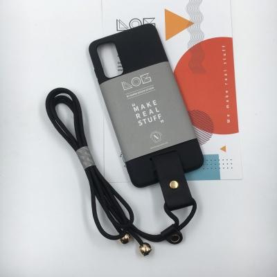 LOG Phone case[ Matte Black + Rope Strap ]