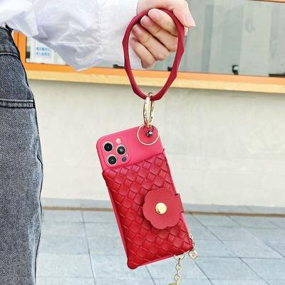 아이폰11 pro max 카드 지갑형 가죽 스트랩 케이스