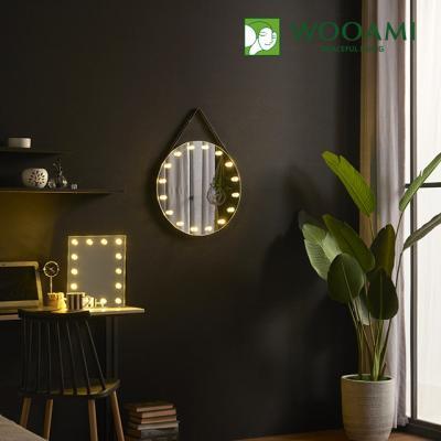 [우아미] 퍼블릭 LED 원형 스트랩 벽걸이 거울