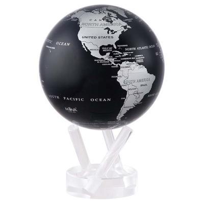 빛만 있으면 OK 자가회전 Silver Black 지구본 114mm