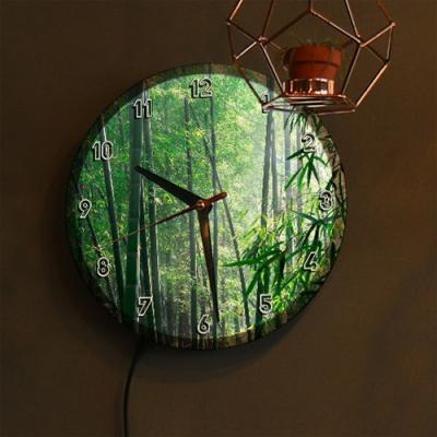 nf309-LED시계액자25R_풍수에좋은대나무