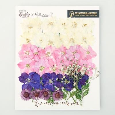 [압화 꽃모음 - C타입] 웨딩부케 꽃모음