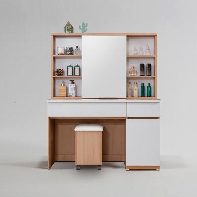 릴비 슬라이딩 거울 수납 화장대 + 의자 세트 (착불)