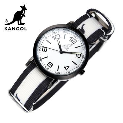 [KANGOL] 캉골시계 나토밴드시계 KG11132_2 BWB LOGO