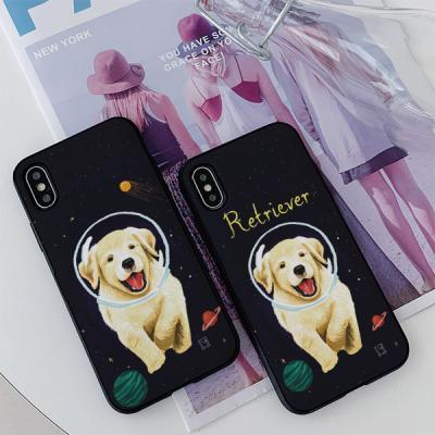 아이폰8 리디아 우주강아지 리트리버 카드케이스