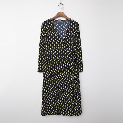 A Petal Wrap Dress - 긴팔