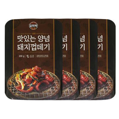 [김이박] 맛있는 양념 돼지껍데기 200g x 4set