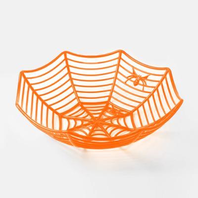 할로윈 오렌지거미줄 바구니 (1개)