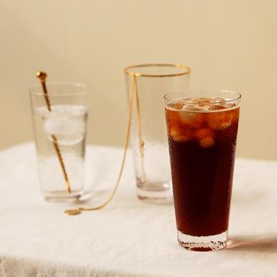 웨이브 글라스 9종 모음 - 아이스 골드림 유리 컵